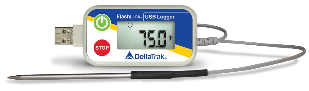 Reusable USB data logger with external probe