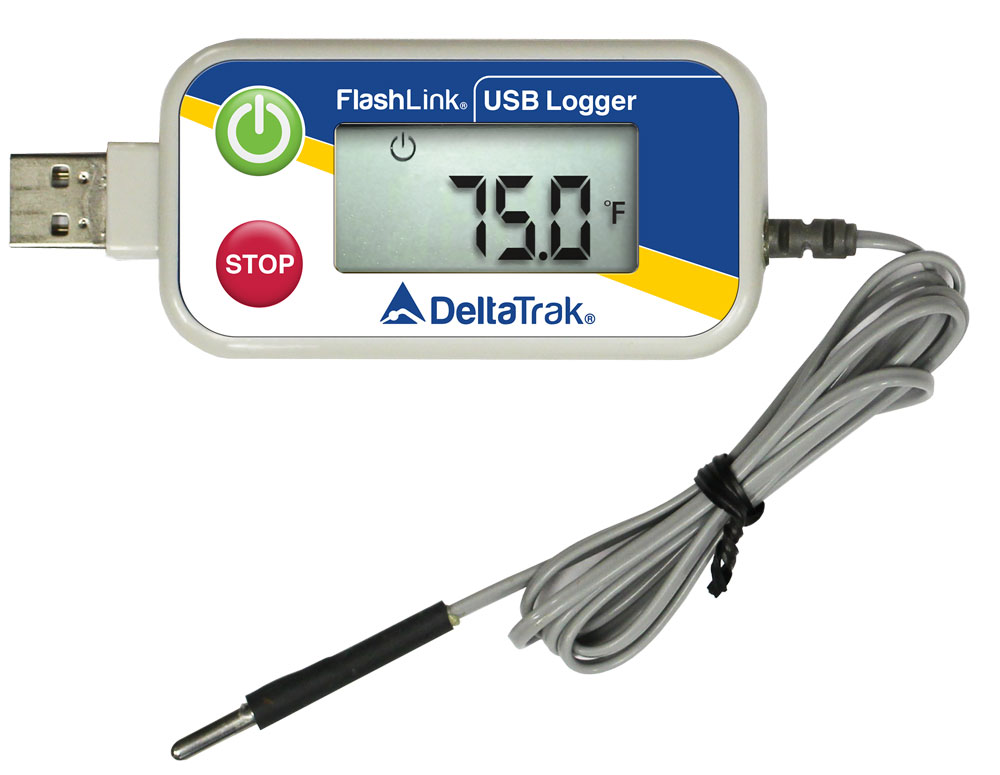 FlashLink Reusable Data Logger with External Probe