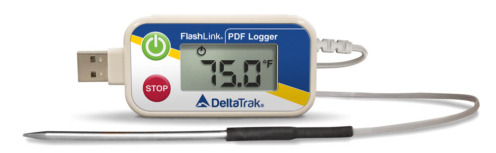 FlashLink USB PDF Reusable Data Logger with External Sharp Probe, Model 40515