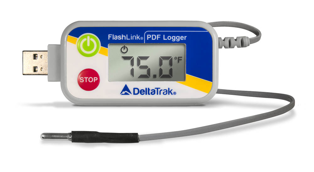 FlashLink USB PDF Reusable Data Logger with External Blunt Probe, Model 40520