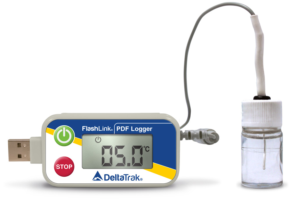 FlashLink Certified Vaccine USB PDF Data Logger