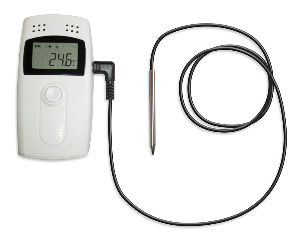 FlashLink USB Reusable Temperature and Humidity Data Logger, Model 40550