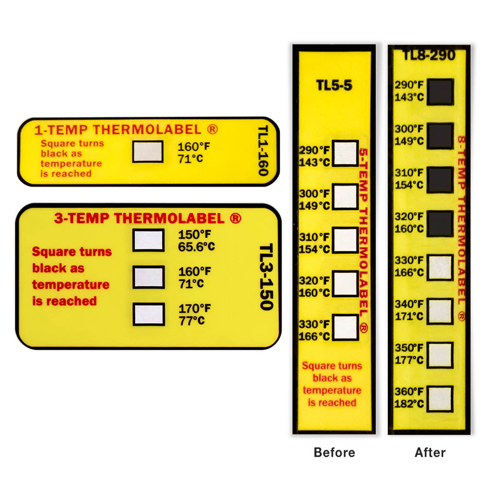 High Temperature Thermal Labels