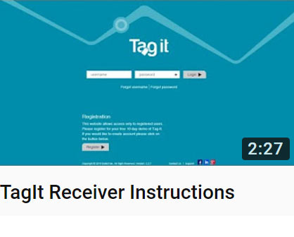 TagIt Receiver Instructions Vieo