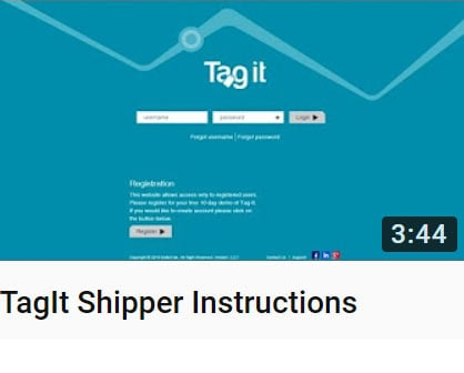 TagIt Shipper Instructions Video
